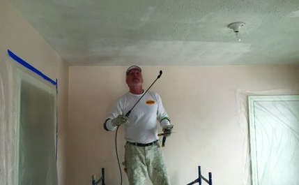 How We Safely Remove a Popcorn Ceiling