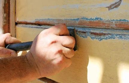 How We Scrape Paint in a Pueblo Home